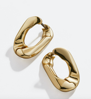 Baublebar Michel Small Curb Chain Hoop Earrings