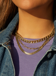 Baublebar Small Michel Curb Chain Necklace