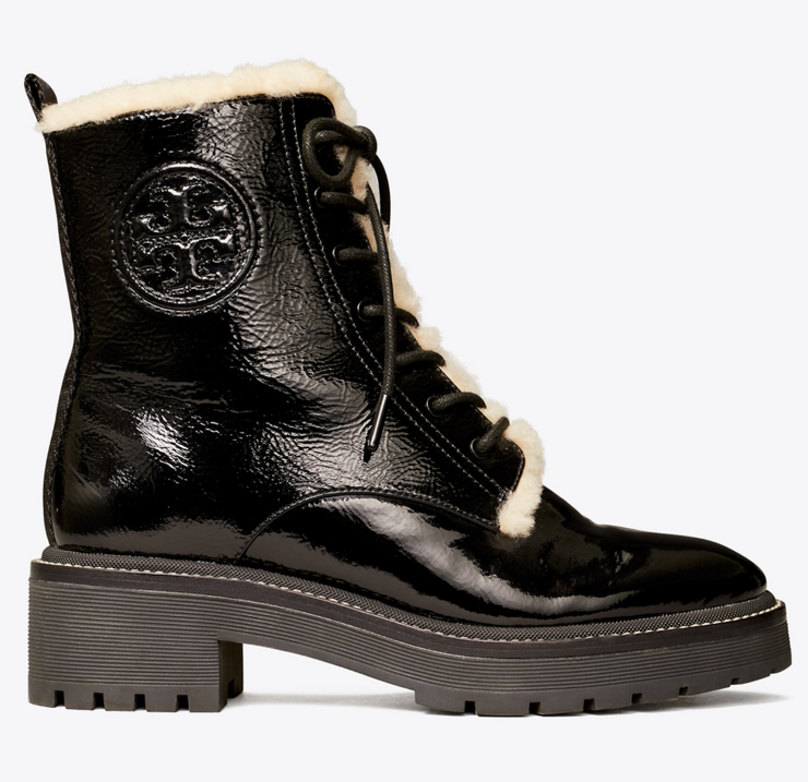 TORY BURCH MILLER SHEARLING LUG SOLE BOOTIE