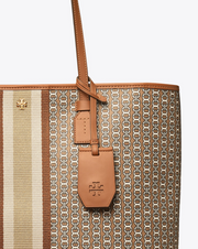 Tory Burch Gemini Link Canvas Tote- Light Umber