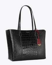 Tory Burch Perry Triple Compartment Tote - Black Exotic
