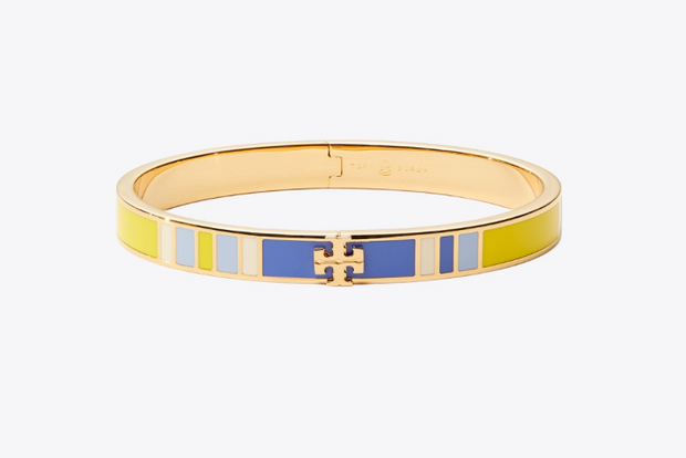 Tory Burch Kira Enamel Striped 7mm Bracelet