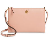 Tory Burch Kira Pebbled Top-Zip Crossbody