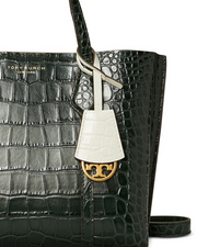 TORY BURCH PERRY SMALL TRIPLE-COMPARTMENT TOTE- Deep Kelp