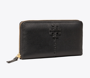 Tory Burch McGraw Zip Continental Wallet - Black