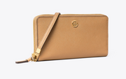 Tory Burch Robinson Zip Continental Wallet- Cardamom