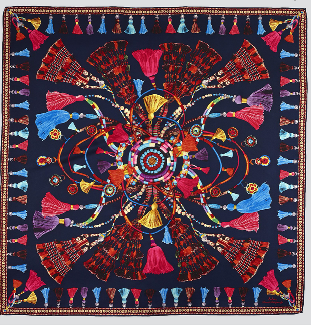 Echo Tassel Rhapsody Silk Square