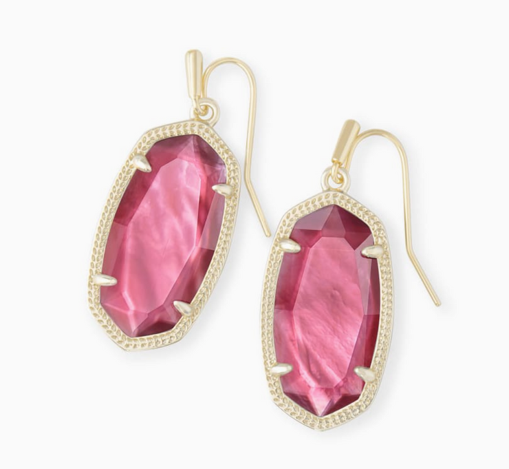 Kendra Scott Dani Earring - Gold/Berry Illusion