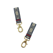 Navy Gucci Luxury Repurposed Key Fob
