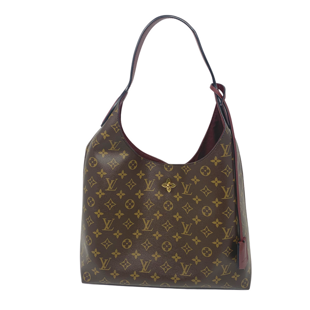 Louis Vuitton Monogram Flower Hobo Bordeaux