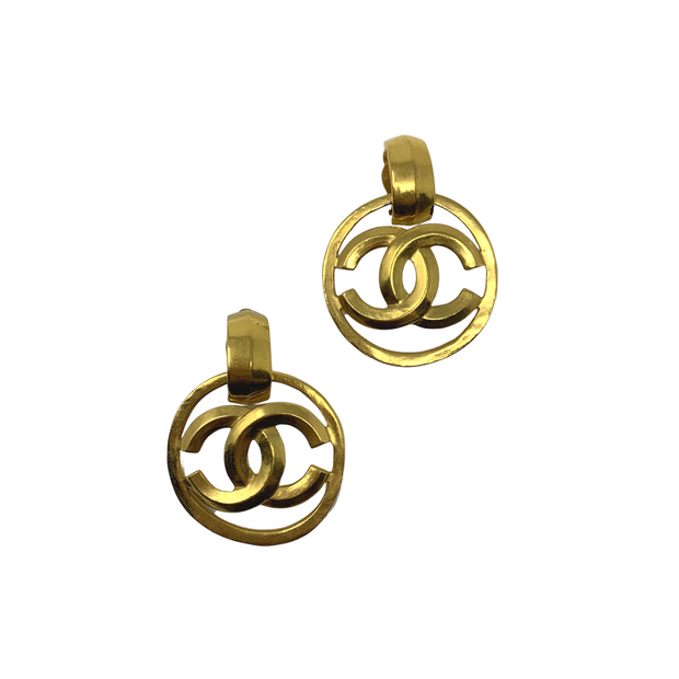 Chanel Gold Clip On Earrings