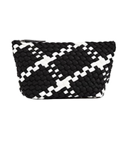 Naghedi Portofino Small Cosmetic Bag - Onyx/White