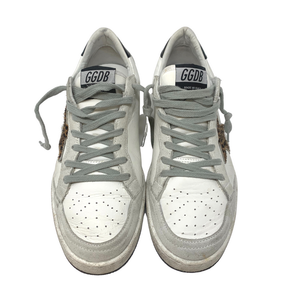 Golden Goose Ball Star Sneakers- Leopard