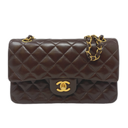 Chanel Brown Double Flap Classic Bag