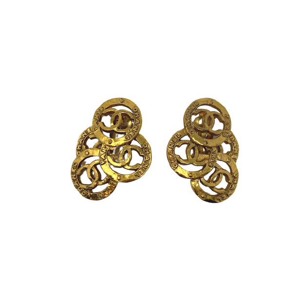 Chanel Cluster Clip-On Earrings