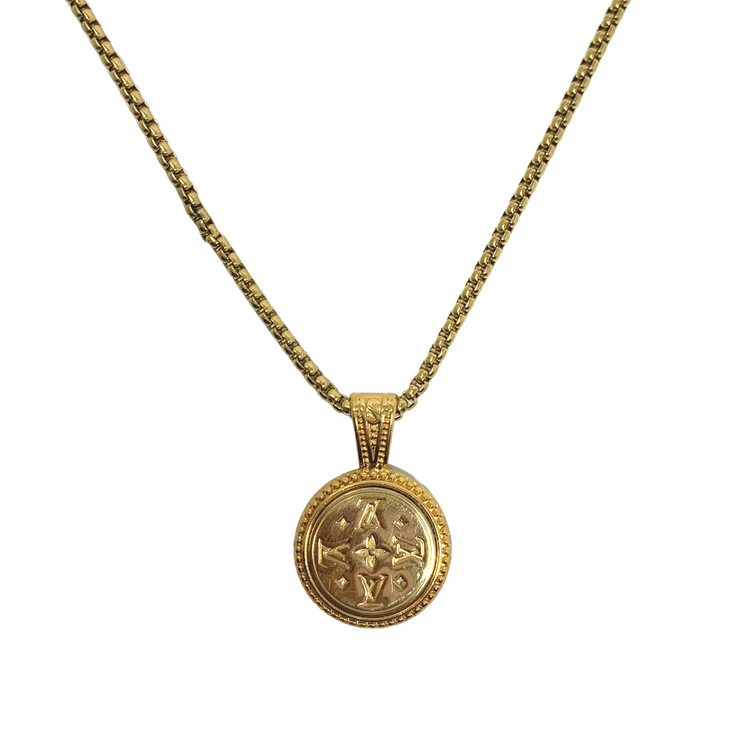 Louis Vuitton Repurposed Button Necklace