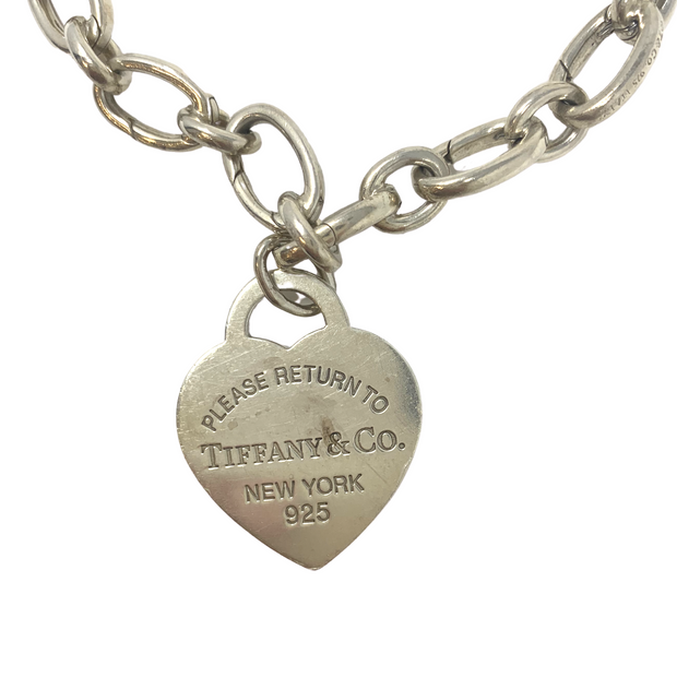 Tiffany Heart Tag Charm Bracelet- Sterling Silver