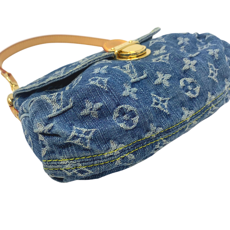 Louis Vuitton Mini Pleaty Denim Shoulder Bag