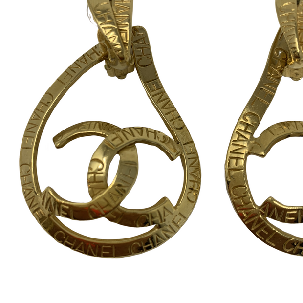 Chanel Tear Drop Clip-On Earrings