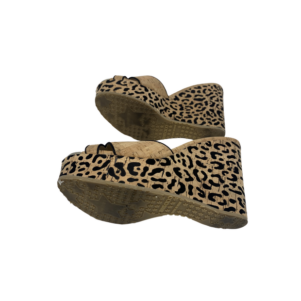 Jimmy Choo Leopard Cork Wedge