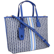 Tory Burch Gemini Link Canvas Small Tote - Bondi Blue