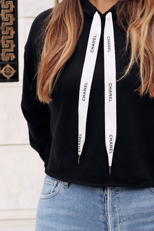 Luxury Repurposed Cropped Sweatshirt