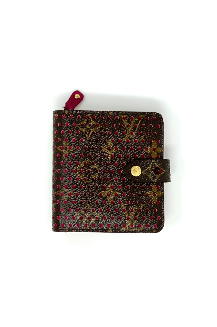 Louis Vuitton Perforated Monogram Compact Wallet