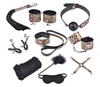 sexy bondage kit (12 pieces, leopard print)