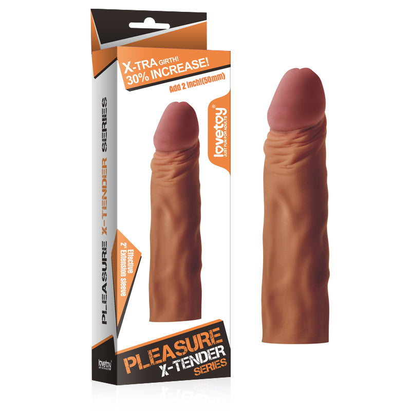 2 inch Pleasure Extender Penis Sleeve