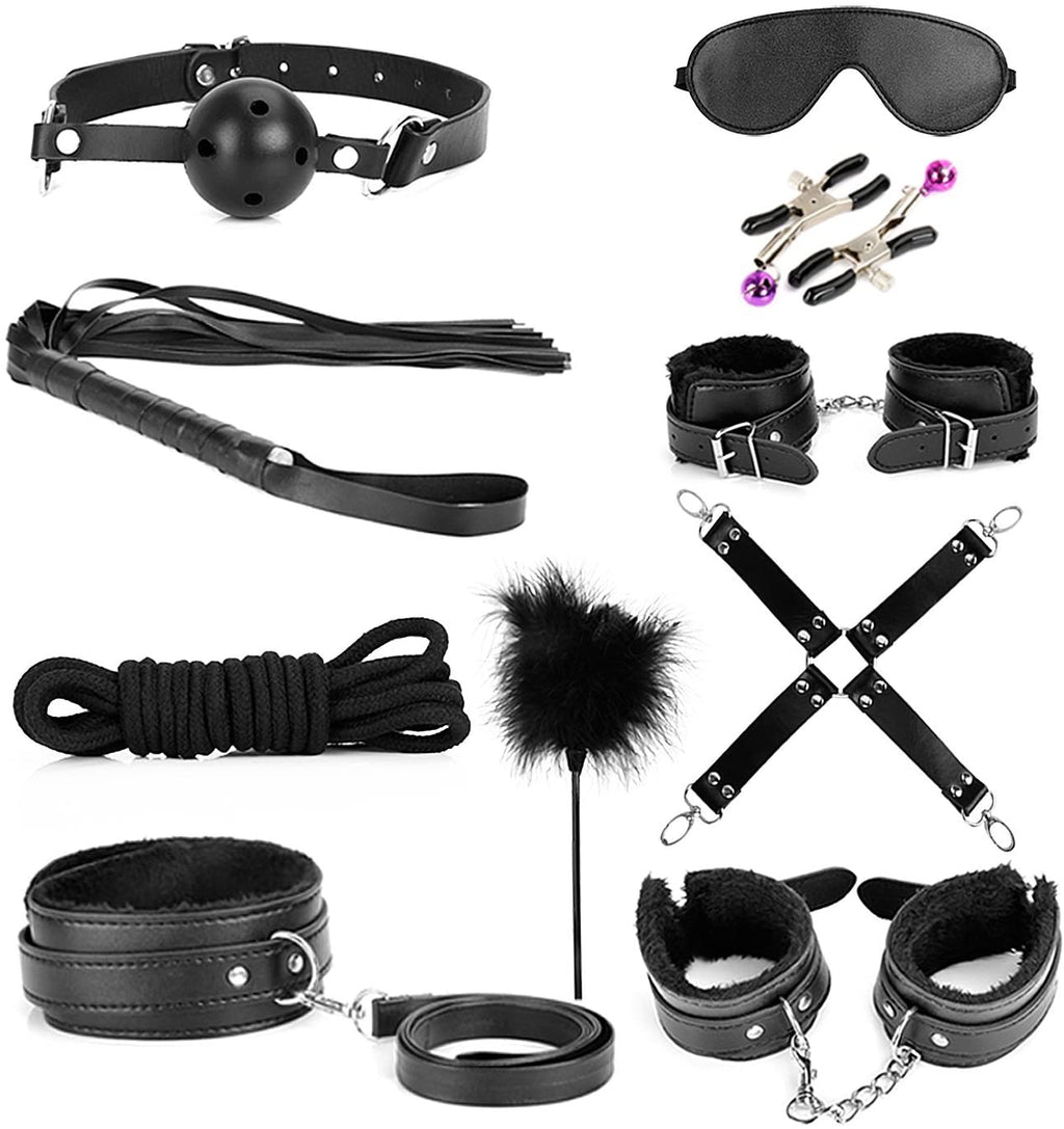 sexy bondage kit (12pieces, black)