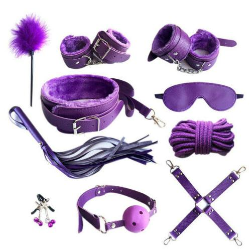 sexyy bondage kit (purple) 12 pieces