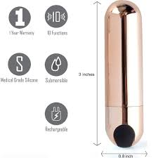 10 speed USB vibrating bullet (gold)