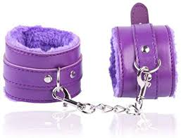 Purple handcuffs