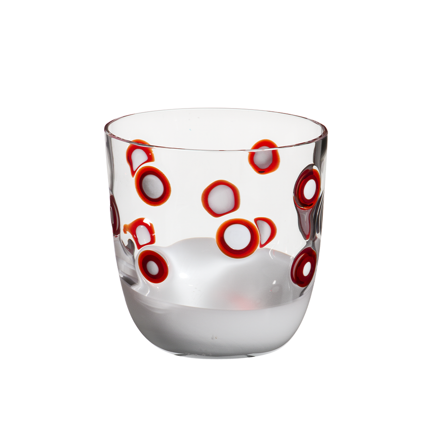 Carlo Moretti | I Diversi Drink Glass (Red/White)