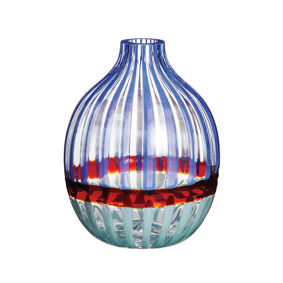 Carlo Moretti | Mini Singleflower Vase (Blue/Red)
