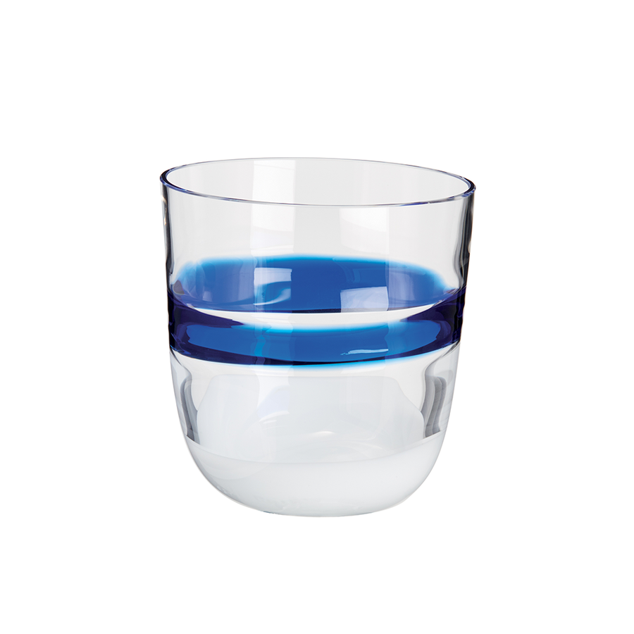 Carlo Moretti | I Diversi Drink Glass (Blue/White)