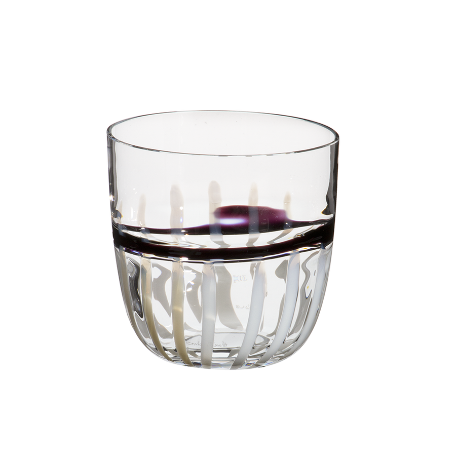 Carlo Moretti | I Diversi Drink Glass (Black/Purple/White)