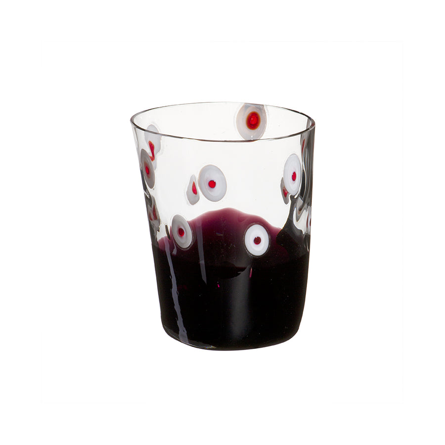 Carlo Moretti | Bora Drink Glass (Purple/Red/White)