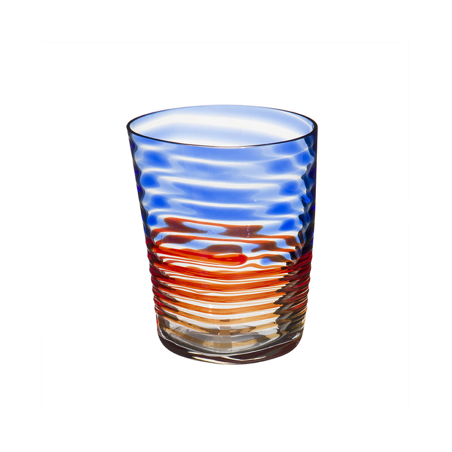 Carlo Moretti | Bora Drink Glass (Blue/Orange)