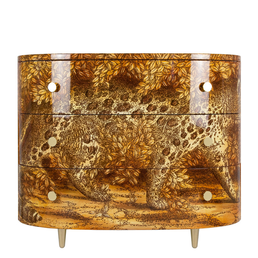 Fornasetti | Leopardo Curved Chest