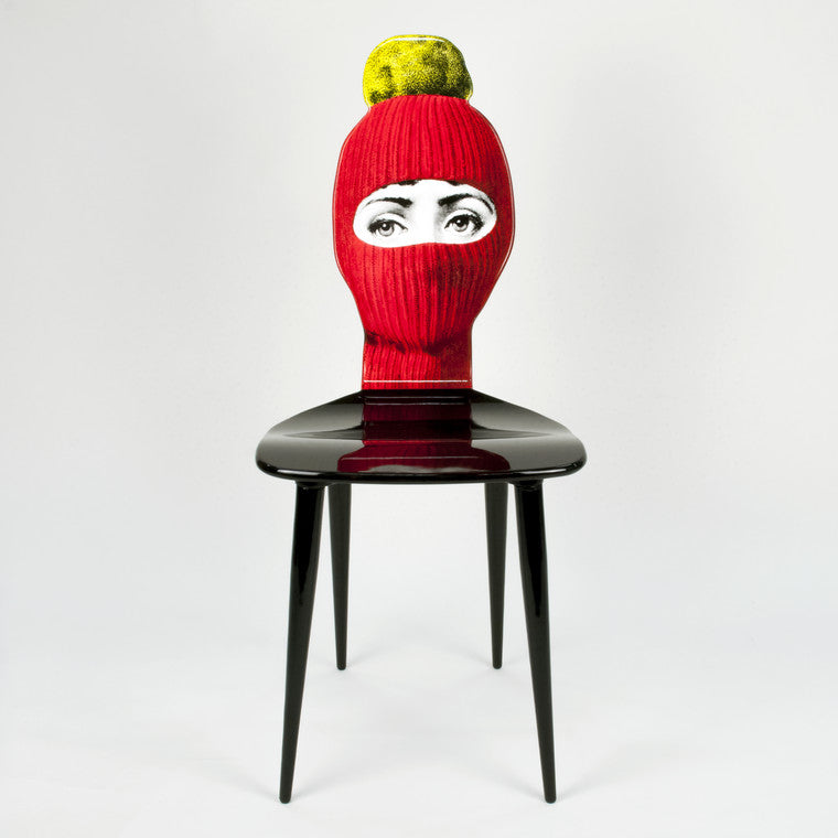 Fornasetti | Lux Gstaad Chair (Red and Yellow)