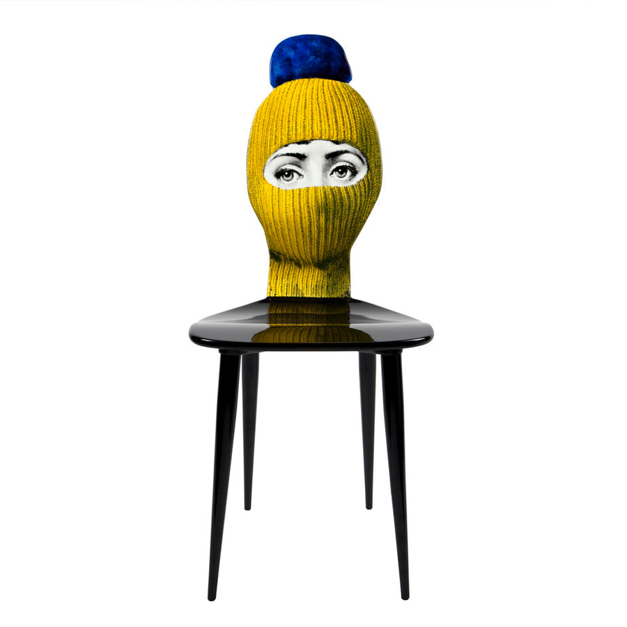 Fornasetti | Lux Gstaad Chair (Yellow and Blue)
