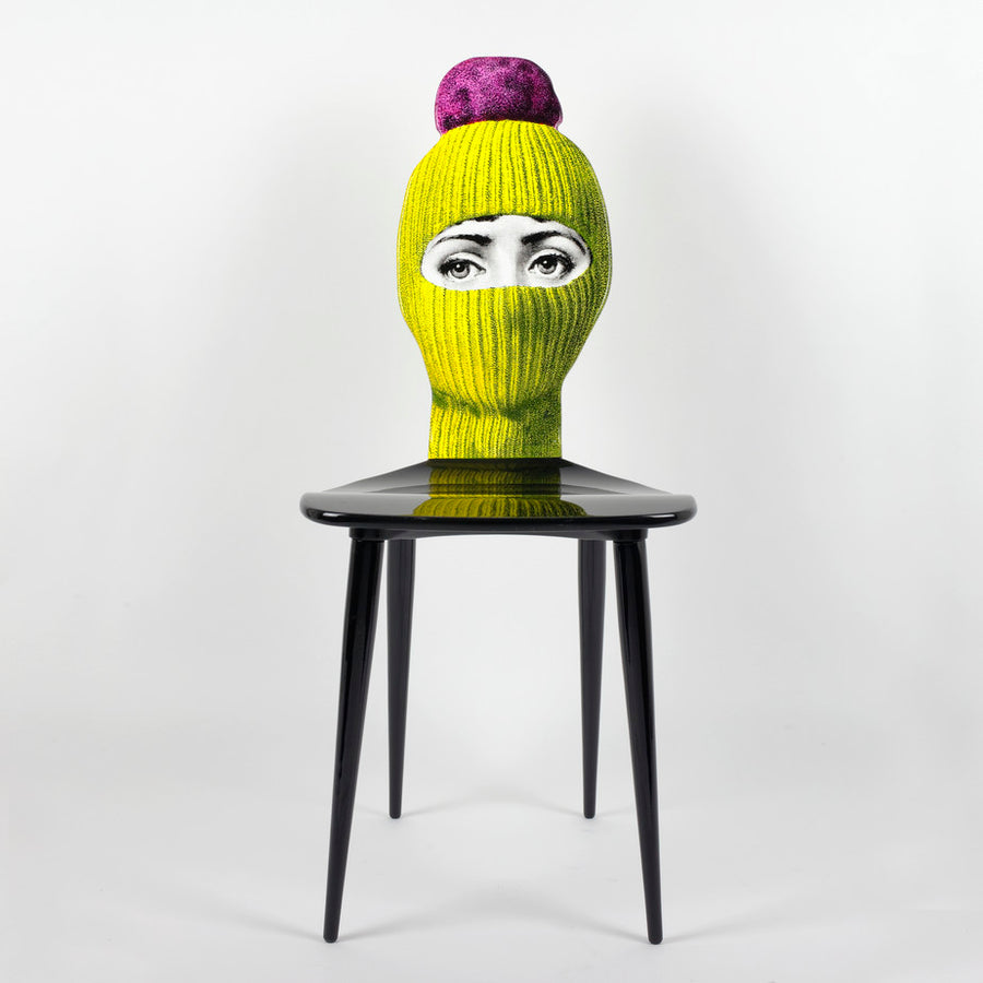 Fornasetti | Lux Gstaad Chair (Yellow and Bright Pink)