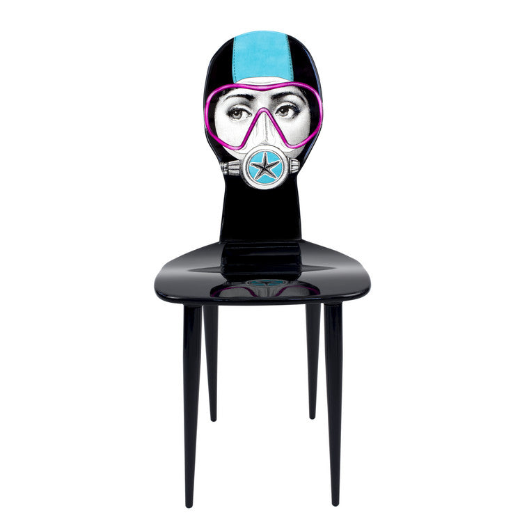 Fornasetti | Silviasub Chair (Turquoise and Pink)