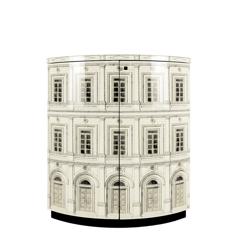 Fornasetti | Architettura Corner Cabinet (Ivory) [Out of Production]