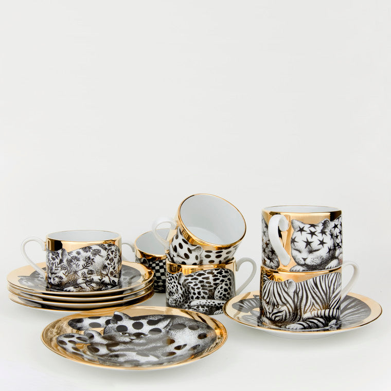 Fornasetti | Set of 6 High Fidelity Tea Cups