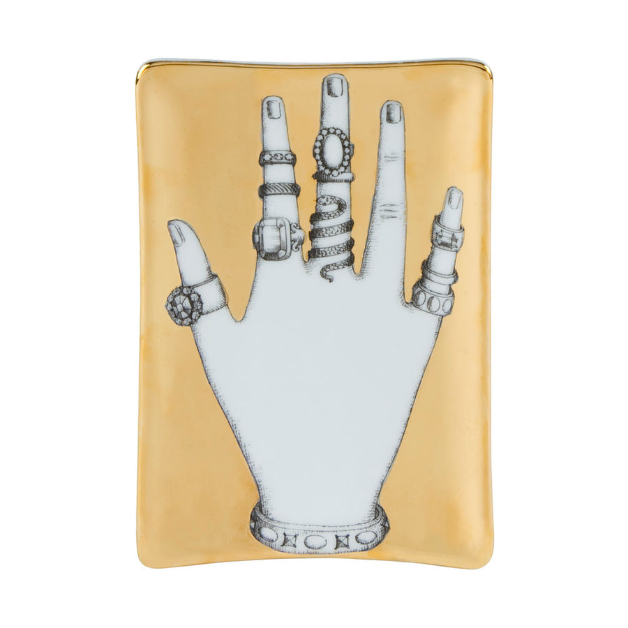 Fornasetti | Mano con Anelli Ashtray (Gold)