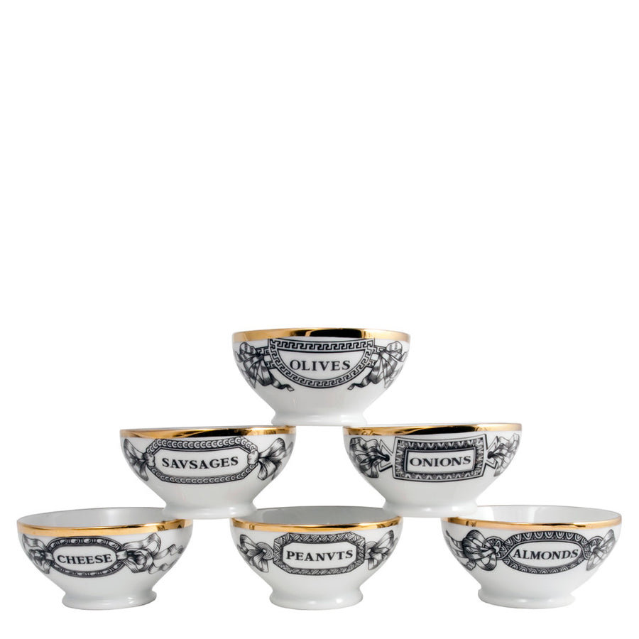 Fornasetti | Set of 6 Appetizer Bowls