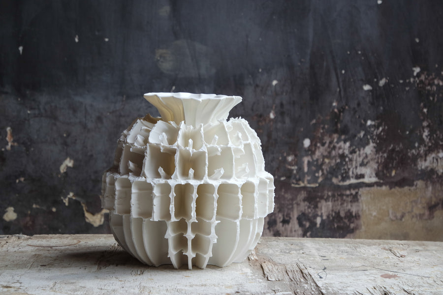 Zsolt Simon | Large White Ceramic No. 1