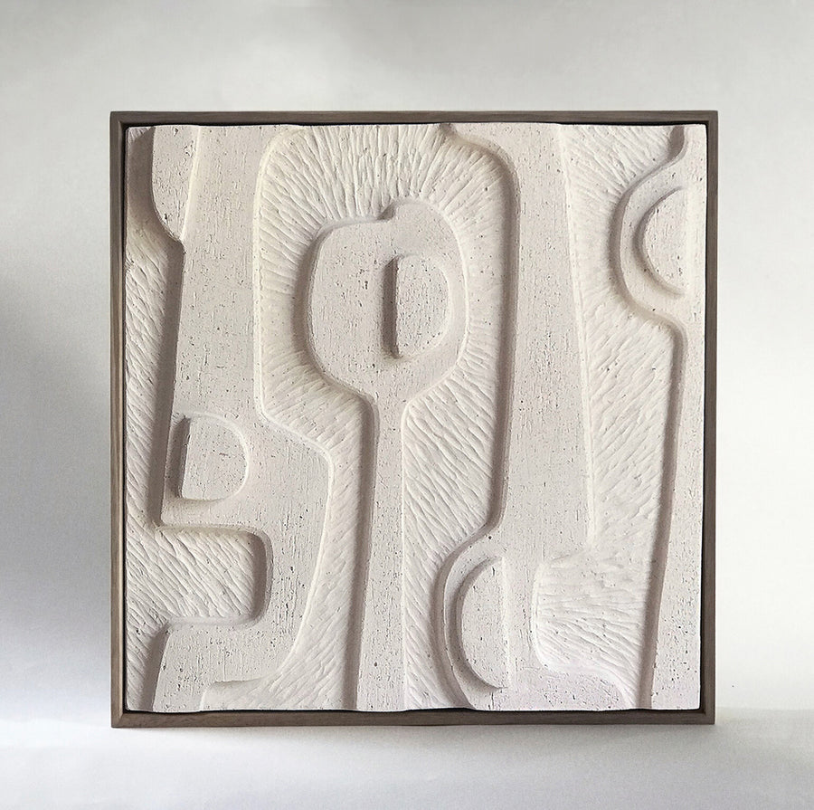 Jan Vogelpoel | White Abstract Tile